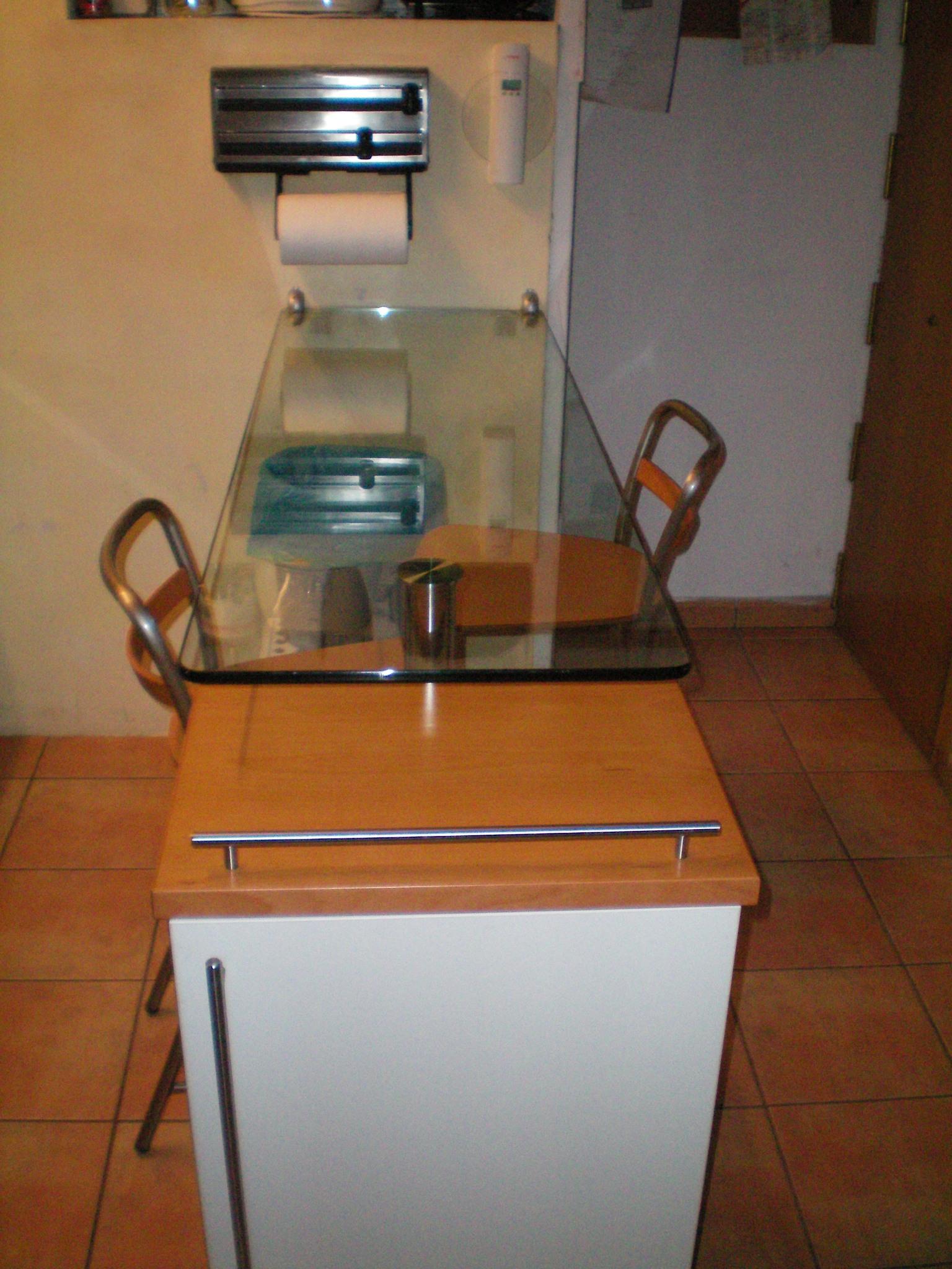 Mesa bar barra mesa de vidrio loftbarcelona - Mesa barra cocina ...